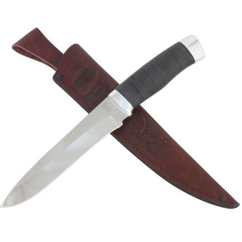 Нож охотничий, туристический «Мичман» Н1Т, сталь ЭИ-107, рукоять: дюраль, кожа