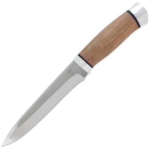 Нож охотничий, туристический «Мичман» Н1Т, сталь ЭИ-107, рукоять: дюраль, орех