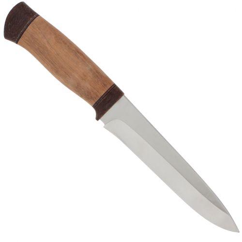 Нож охотничий, туристический «Мичман» Н1Т, сталь ЭИ-107, рукоять: текстолит, орех