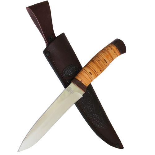 Нож охотничий, туристический «Мичман» Н1Т, сталь ЭИ-107, рукоять: текстолит, береста