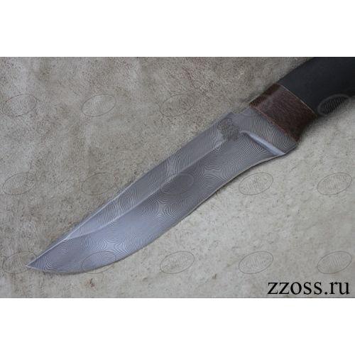 Нож охотничий, туристический «Турецкий» Н2, сталь черный дамаск (У10А-7ХНМ), рукоять: текстолит, микропора
