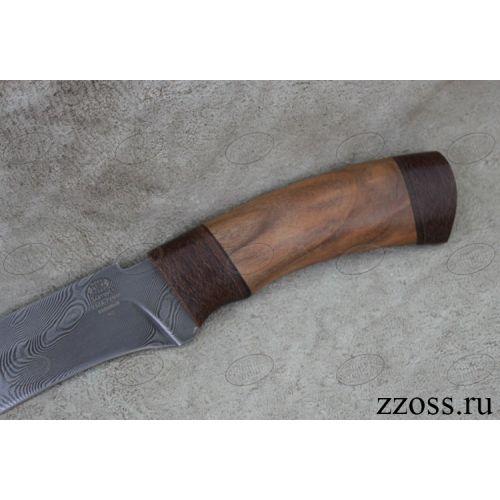 Нож охотничий, туристический «Турецкий» Н2, сталь черный дамаск (У10А-7ХНМ), рукоять: текстолит, орех
