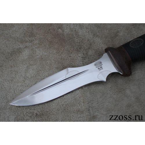 Нож охотничий, туристический «Крестоносец» Н21А, сталь ЭИ-107, рукоять: текстолит, кожа наборная