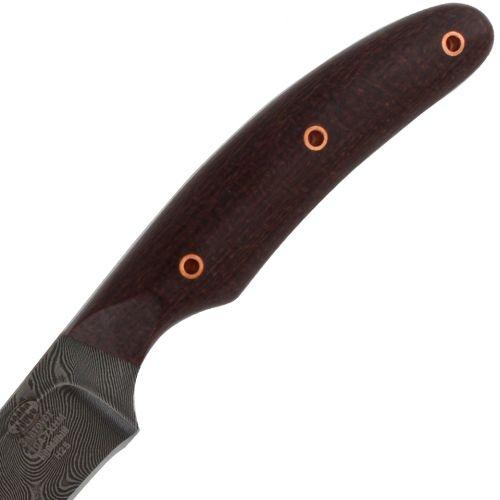Нож охотничий, туристический «Виконт» Н25, сталь черный дамаск (У10А-7ХНМ), рукоять: текстолит
