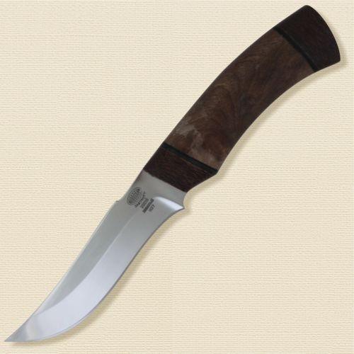 Нож разделочный, шкуросъёмный «Башкорт» Н27, сталь ЭИ-107, рукоять: текстолит, орех