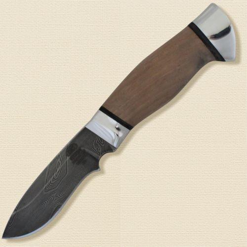 Нож туристический «Русич» Н31, сталь черный дамаск (У10А-7ХНМ), рукоять: дюраль, орех