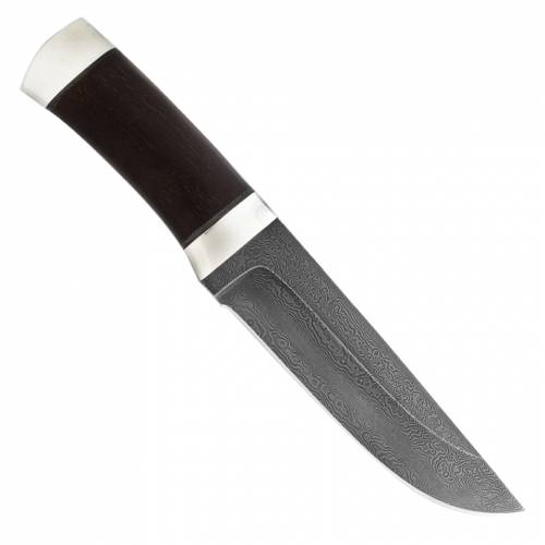 Нож охотничий, туристический «Алтай» Н4, сталь черный дамаск (У10А-7ХНМ), рукоять: дюраль, граб
