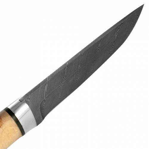 Нож охотничий, туристический «Алтай» Н4, сталь нержавеющий дамаск (40Х13-Х12МФ1), рукоять: дюраль, кап