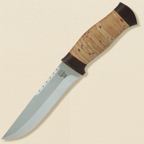 Нож охотничий, туристический «Пират» Н55, сталь ЭИ-107, рукоять: текстолит, береста наборная