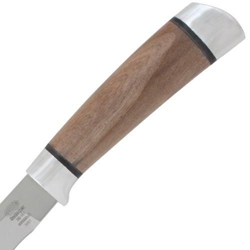 Нож охотничий, туристический «Змеелов» Н57, сталь ЭИ-107, рукоять: дюраль, орех