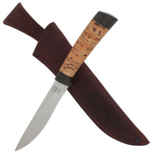 Нож охотничий, туристический «Змеелов» Н57, сталь ЭИ-107, рукоять: текстолит, береста
