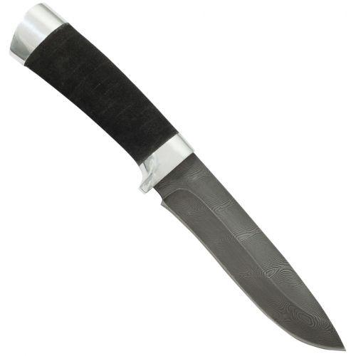 Нож охотничий, туристический «Александр II» Н6, сталь черный дамаск (У10А-7ХНМ), рукоять: дюраль, микропора