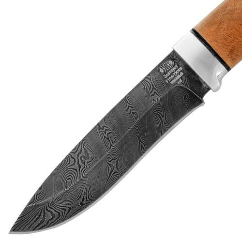 Нож охотничий, туристический «Александр II» Н6, сталь черный дамаск (У10А-7ХНМ), рукоять: дюраль, орех