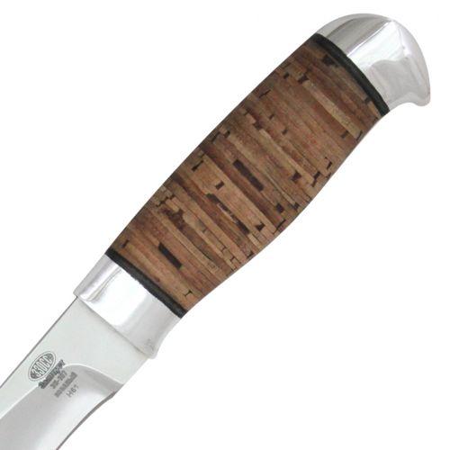 Нож охотничий, туристический «Следопыт» Н61, сталь ЭИ-107, рукоять:  береста, дюраль