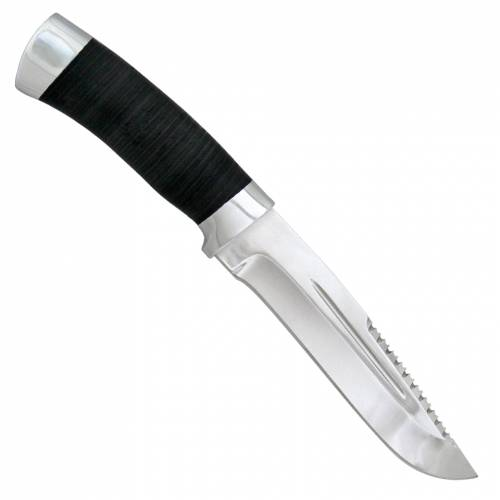 Нож охотничий, туристический «Каскадёр» Н64, сталь: ЭИ-107, рукоять: кожа, дюраль