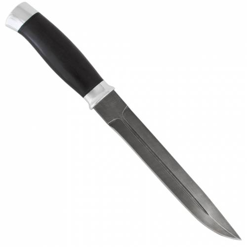 Нож охотничий, туристический «Бурят» Н76, сталь черный дамаск (У10А-7ХНМ), рукоять: дюраль, граб