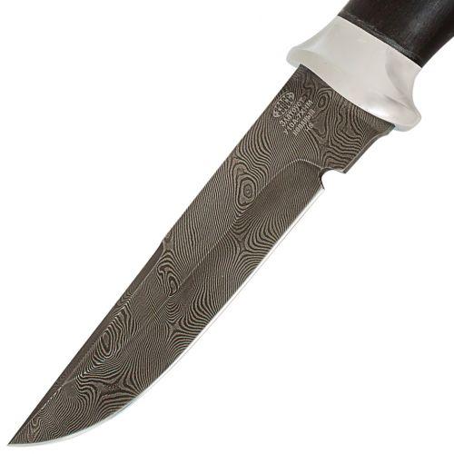 Нож охотничий, туристический «Лондон - спецназ» Н8, сталь черный дамаск (У10А-7ХНМ), рукоять: дюраль, граб