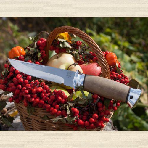 Нож охотничий, туристический «Лондон - спецназ» Н8, сталь ЭИ-107, рукоять: дюраль, орех