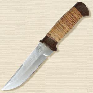 Нож охотничий, туристический «Лондон - спецназ» Н8, сталь контрастный дамаск (65Г-Х12МФ1), рукоять: текстолит, береста наборная