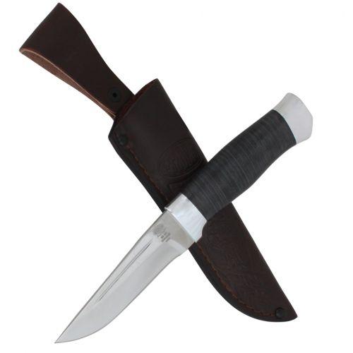 Нож охотничий, туристический «Гусар» Н80, сталь ЭИ-107, рукоять: дюраль, кожа