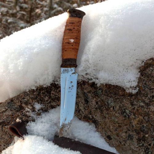 Нож охотничий, туристический «Сибиряк» Н81, сталь ЭИ-107, рукоять: текстолит, береста