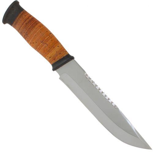 Нож охотничий, туристический «Ладога» Н83, сталь ЭИ-107, рукоять: текстолит, береста