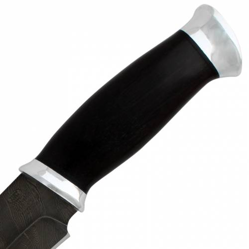 Нож охотничий, туристический «Ладога» Н83, сталь черный дамаск (У10А-7ХНМ), рукоять: дюраль, граб