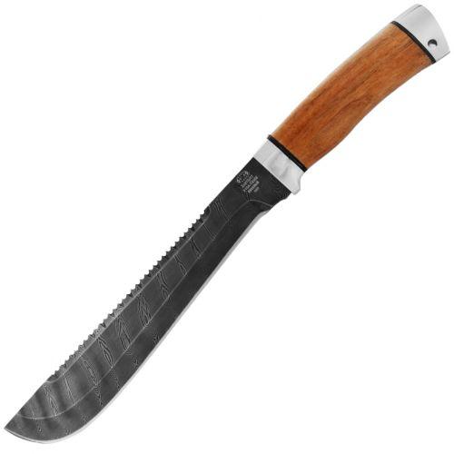 Нож Н89, сталь черный дамаск (У10А-7ХНМ), рукоять: дюраль, орех