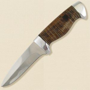 Нож охотничий, туристический «Чикаго» Н9, сталь ЭИ-107, рукоять: дюраль, кожа наборная