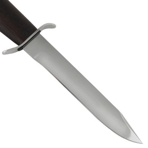 Нож охотничий, туристический «Танковый» НТ19, сталь: ЭИ-107, рукоять: никель, орех мореный