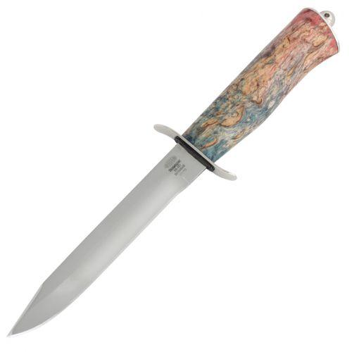 Нож охотничий, туристический «Танковый» НТ19, сталь ЭИ-107, рукоять: никель, стабилизированная береза