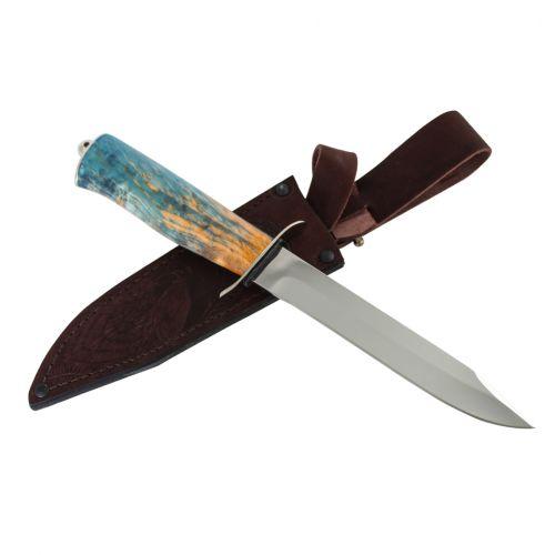 Нож охотничий, туристический «Танковый» НТ19, сталь ЭИ-107, рукоять: никель, стабилизированная береза (1)