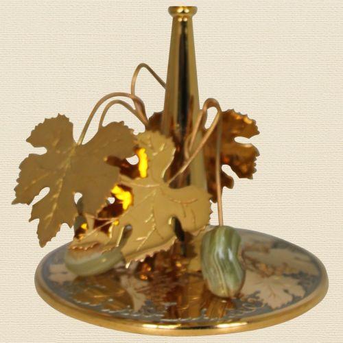 Креманка «Замки Тосканы», никель, золото, фианиты, оникс