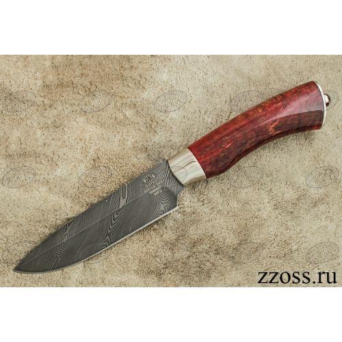 Нож охотничий, туристический «Милорд» НР3, сталь нержавеющий дамаск (40Х13-Х12МФ1), рукоять: никель, стабилизированная береза