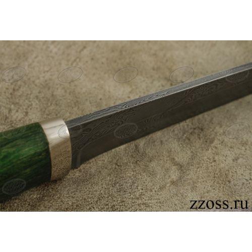 Нож подарочный «Бравый мичман» Н1Т-П, сталь нержавеющий дамаск (40Х13-Х12МФ1), рукоять: никель, стабилизированная береза