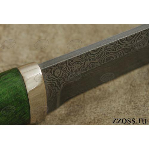 Нож «Таганайский лесник» Н5-П, сталь нержавеющий дамаск (40Х13-Х12МФ1), рукоять: никель, стабилизированная береза