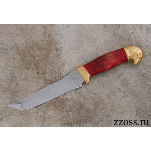 Нож «Свита Ундины» Н69-Л, сталь: ЭИ-107, рукоять: золото, стабилизированная береза, литьё, рисованный клинок золотом