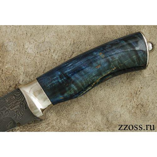 Нож «Королевский Лондон» Н8-П, сталь нержавеющий дамаск (40Х13-Х12МФ1), рукоять: никель, стабилизированная береза