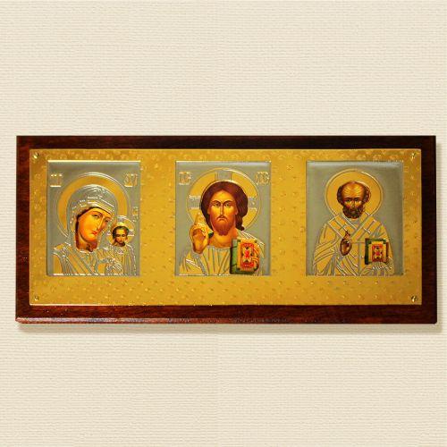 Триптих с изображением Николая Чудотворца, Иисуса Христа и Пресвятой Богородицы Девы Марии